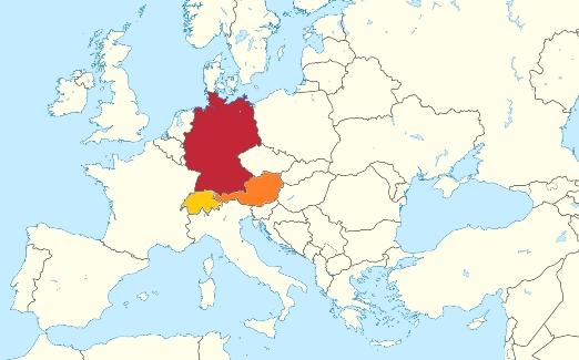 Map Switzerland Germany Austria - Free Usa Maps